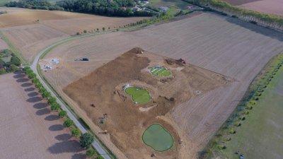 Golf Club Château de Juillac, <p>Création zone d'entraînement</p>